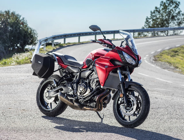 Yamaha Tracer 700 in radical red colour