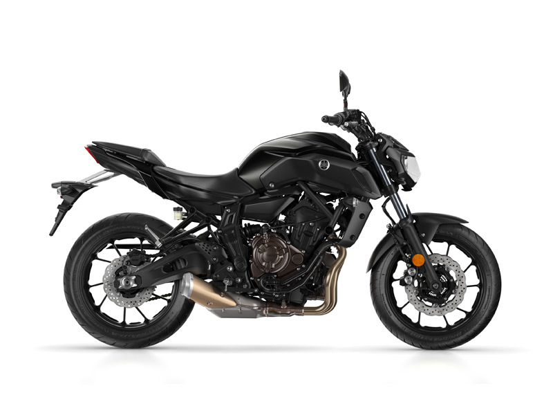 Yamaha MT-07 in Tech Black colour