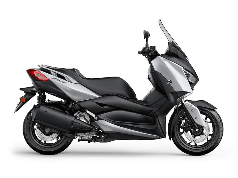 Yamaha XMAX 300 scooter in matt silver colour