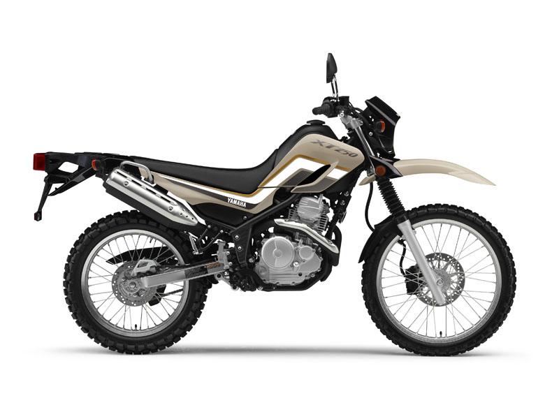 Yamaha XT250 in sandy beige colour