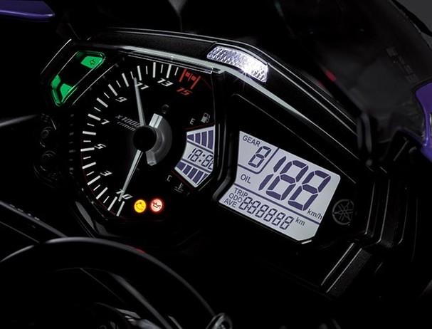 Yamaha YZF-R3SP Movistar instrument panel