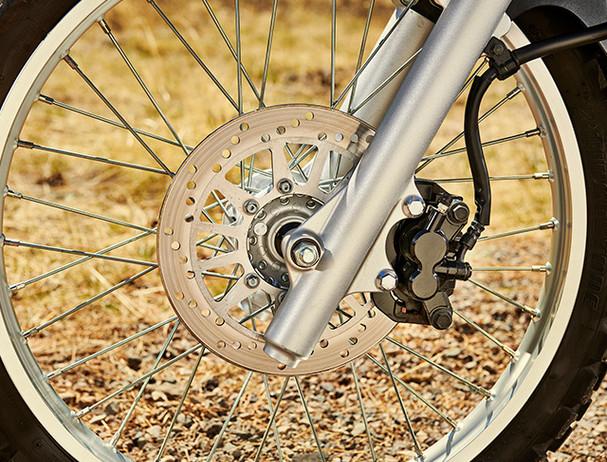 Yamaha XT250 rear disc brakes